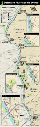 Delaware River Scenic Byway Map
